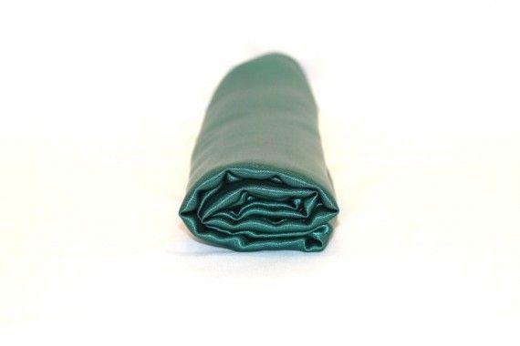 Tissu Doublure Satin Vert Foncé Petite Largeur -Coupon de 3 mètres