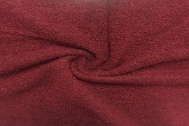 Tissu Laine Bouillie Rouge -Au Mètre