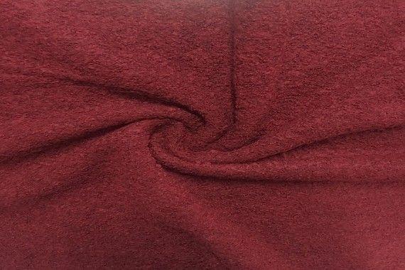 Tissu Laine Bouillie Rouge -Coupon de 3 mètres