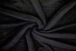 Tissu Maille Lurex Noir/Noir -Coupon de 3 mètres