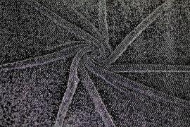 Tissu Maille Lurex Noir/Argent -Au Mètre