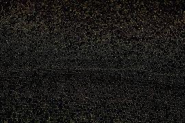 Tissu Maille Lurex Noir/Or -Au Mètre