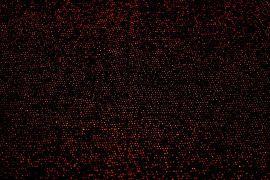 Tissu Maille Lurex Noir/Rouge -Au Mètre