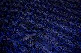 Tissu Maille Lurex Noir/Bleu -Au Mètre