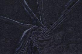 Tissu Velours Extensible Marine -Au Mètre
