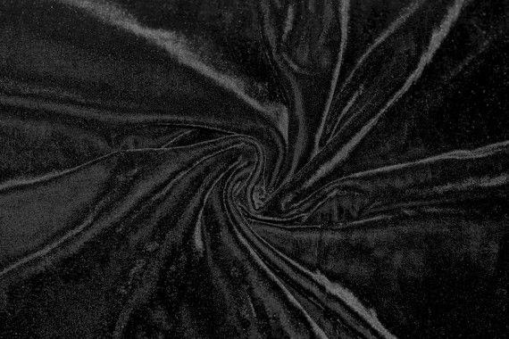 Tissu Velours Extensible Noir -Au Mètre