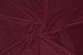 Tissu Velours Extensible Rouge -Coupon de 3 metres