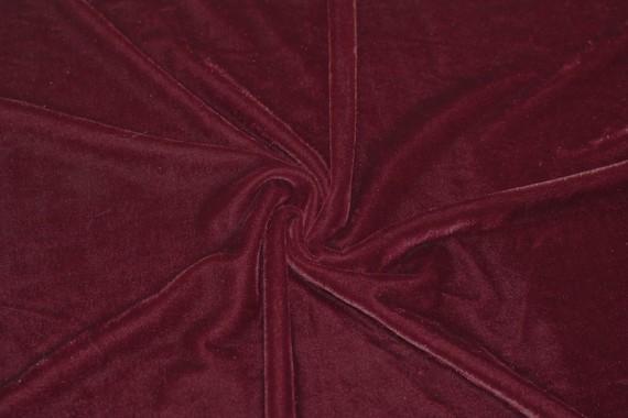 Tissu Velours Extensible Rouge -Au Mètre