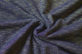 Tissu Maille Pull Marble Marine -Au Mètre