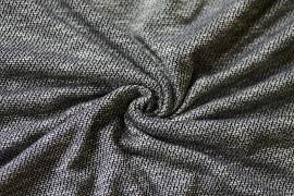 Tissu Maille Pull Marble Noir -Coupon de 3 mètres