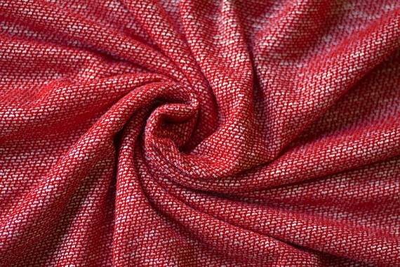 Tissu Maille Pull Marble Rouge -Au Mètre
