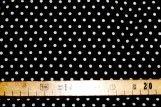 Tissu Viscose Imprimée Petit Pois Noir/Blanc -Au Mètre