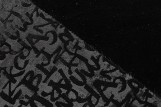 Tissu Velours Doublé Fourrure Noir -Coupon de 3 mètres