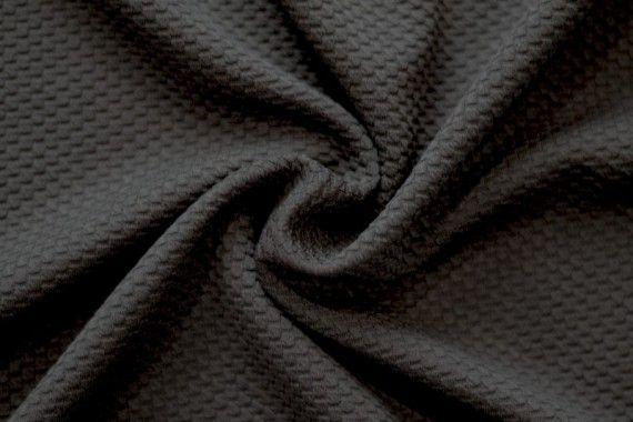 Tissu Nid d'abeille Noir -Au mètre