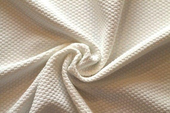 Tissu Nid d'abeille Ecru -Au mètre
