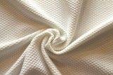 Tissu Nid d'abeille Ecru -Coupon de 3 mètres