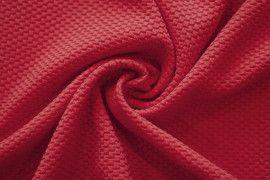 Tissu Nid d'abeille Rouge -Au mètre