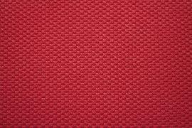 Tissu Nid d'abeille Rouge -Coupon de 3 mètres