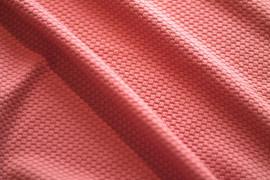 Tissu Nid d'abeille Corail -Au mètre