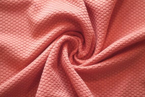 Tissu Nid d'abeille Corail -Coupon de 3 mètres