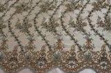 Tissu Tulle Perlé Saumon -Coupon de 3m40