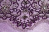 Tissu Tulle Perlé Violet -Coupon de 3m40