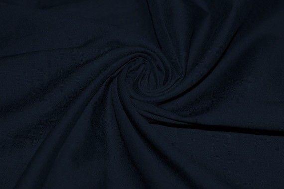 Tissu Voile Uni 100% Coton Marine -Au Mètre