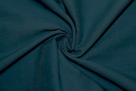 Tissu Voile Uni 100% Coton Bleu Canard -Au Mètre