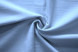 Tissu Voile Uni 100% Coton Bleu Ciel -Au Metre