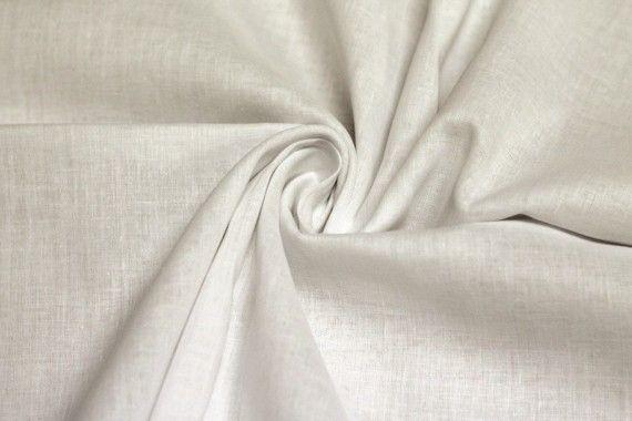 Tissu Voile Uni 100% Coton Ecru -Au Mètre