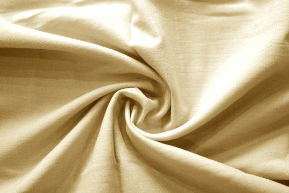 Tissu Voile Uni 100% Coton Beige -Au Mètre