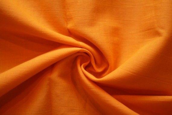 Tissu Voile Uni 100% Coton Orange -Au Mètre