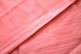 Tissu Voile Uni 100% Coton Corail -Au Mètre
