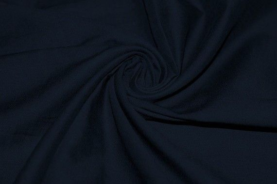 Tissu Voile Uni 100% Coton Marine -Coupon de 3 mètres