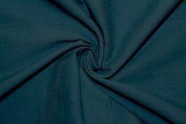 Tissu Voile Uni 100% Coton Bleu Canard -Coupon de 3 metres