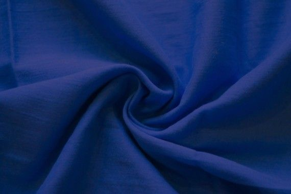 Tissu Voile Uni 100% Coton Bleu Roi -Coupon de 3 mètres
