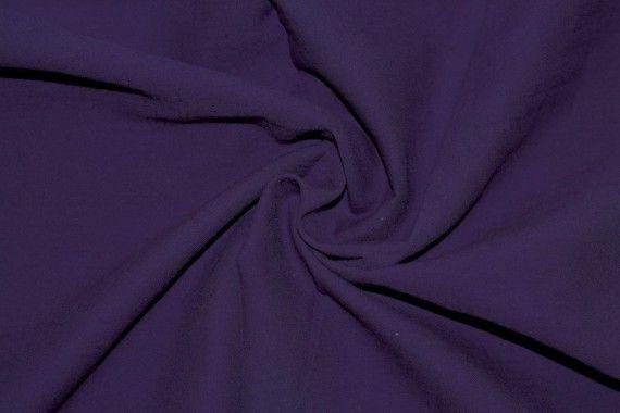 Tissu Voile Uni 100% Coton Violet -Coupon de 3 mètres