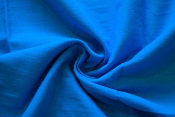 Tissu Voile Uni 100% Coton Turquoise -Coupon de 3 mètres