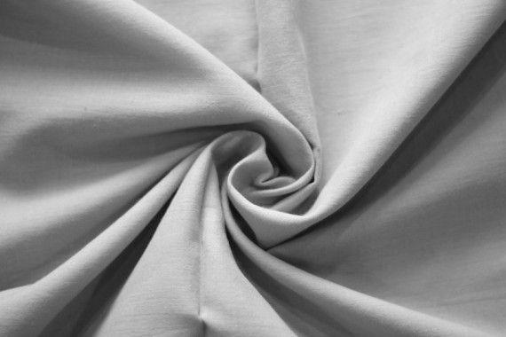 Tissu Voile Uni 100% Coton Gris -Coupon de 3 mètres