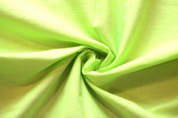 Tissu Voile Uni 100% Coton Anis -Coupon de 3 mètres
