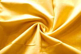 Tissu Voile Uni 100% Coton Jaune -Coupon de 3 metres