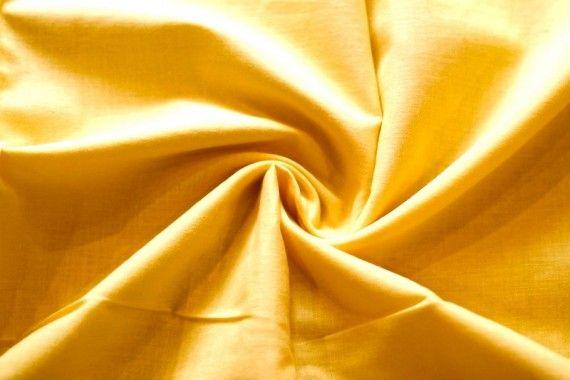 Tissu Voile Uni 100% Coton Jaune -Coupon de 3 mètres