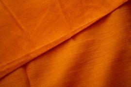 Tissu Voile Uni 100% Coton Orange -Coupon de 3 mètres