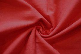 Tissu Voile Uni 100% Coton Rouge -Coupon de 3 metres