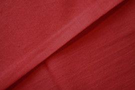 Tissu Voile Uni 100% Coton Rouge -Coupon de 3 mètres