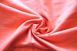 Tissu Voile Uni 100% Coton Corail -Coupon de 3 metres
