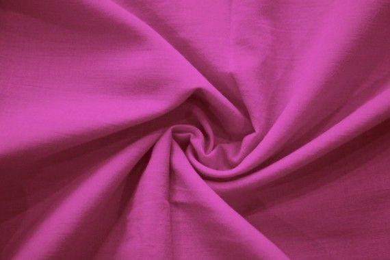Tissu Voile Uni 100% Coton Fuchsia -Coupon de 3 mètres