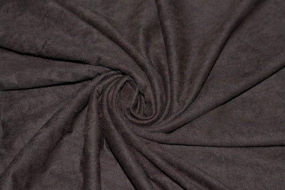 Tissu Suédine Maille Légère Marron Coupon de 3 mètres