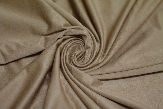 Tissu Suédine Maille Légère Beige Coupon de 3 mètres