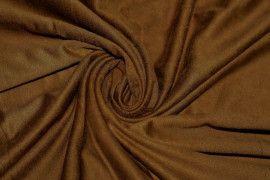 Tissu Suédine Maille Légère Camel Foncé Coupon de 3 mètres